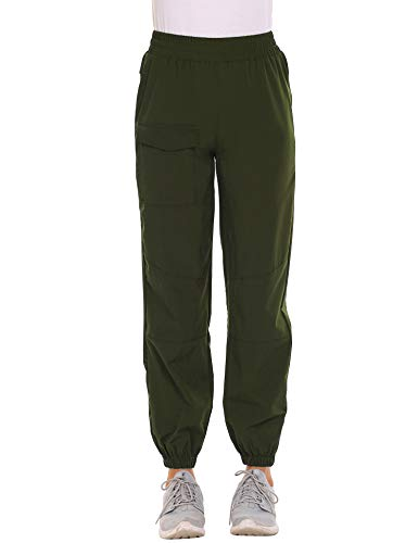 Hiking Pants Quick Drying Outdoor Lightweight Travel Cargo Pants Army Green Medium
