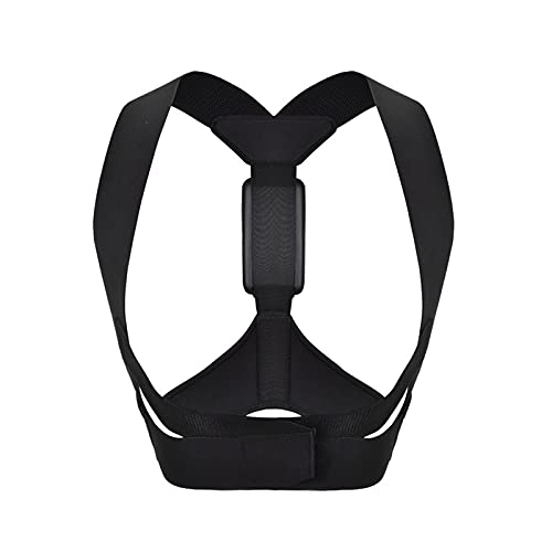 Jinqiuyuan Smart Posture Corrector, Electronic Back Relief Correction with Sensor Vibration Reminder Adjustable Back Brace for Adults Kids (Color : Black, Size : Large)