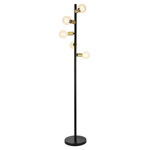 [lux.pro] Lámpara de pie Tartu Moderna Diseño Altura 153 cm Iluminación Interior Luz efectiva Negro y Cobre Amarillo