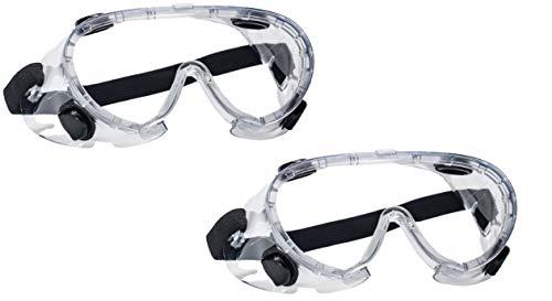 Gafas de seguridad con válvulas de respiración Homologadas CE Normativa: Cumple con EN 166: 2001. Visión amplia Lente transparente. Con tratamiento anti-vaho. PACK de 2 uds.
