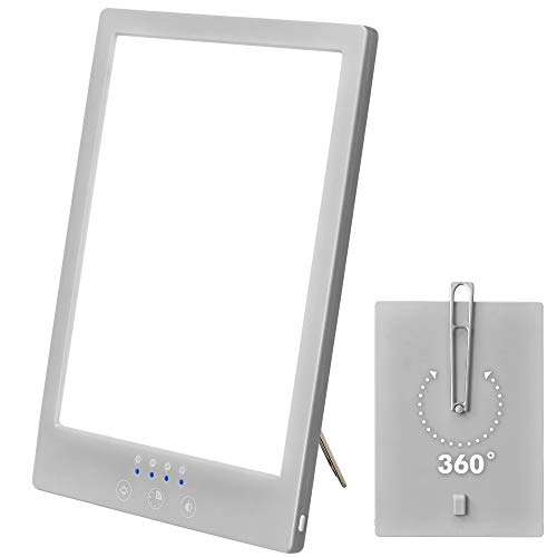 Cheapest Prices! Sun Lamp LED White Warm Light Therapy Lamp - UV Free 2000-12000 Lux Gradient | 360Â...