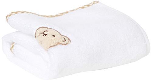 Steiff Unisex Baby kuscheligem Teddybärkopf Handtuch, Weiß, 999