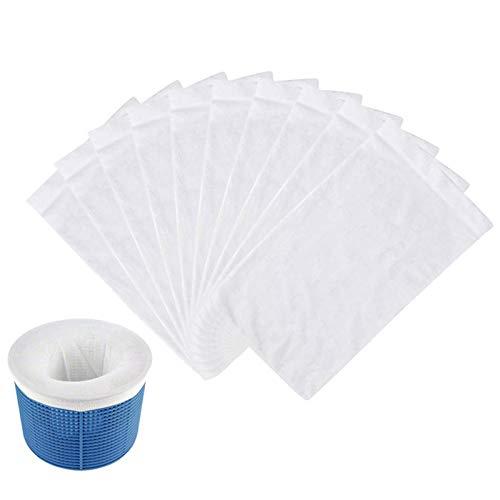 Bulary 10 Stück / 20 Stück Pool Skimmer Socken, Pool Filter Saver Socken Netz Für Filter Skimmer Korb, Haushalt Pool Küchenschoner, Für Filter Körbe Skimmer