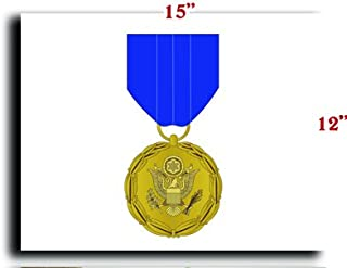 Boomsavings US Army Medal Meritorious Civilian Service Award Canvas Art Print Framed Stretched 15