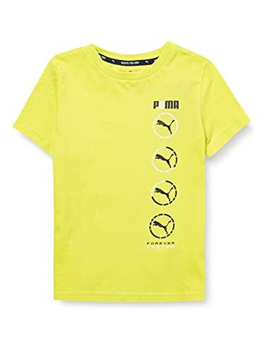 PUMHB #Puma Active Sports Graphic Tee B, Maglietta Bambino, Nrgy Yellow, 116