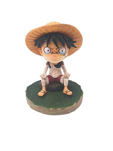 ymdmds Hohe 13 cm Einteilige Bandage sitzend Luffy Wütend Boxed Skulptur Geschenk Modell Kunstwerk Anime