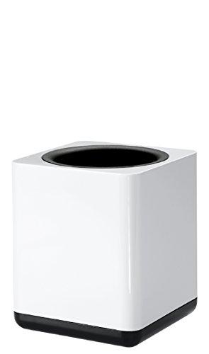 HAN Stifteköcher i-Line 17653-32 in Weiß/Schwarz / Eleganter, stylischer Stiftebehälter mit großem Volumen & Schaumstoffeinlage / Für einen modernen Schreibtisch