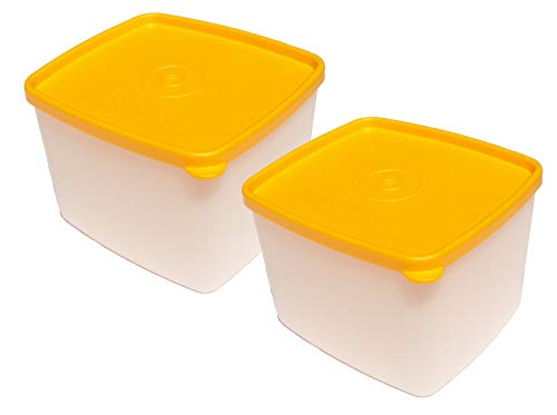 Tupperware Square Rounds 30 Ounce Sheer Freezer Containers Set of 2