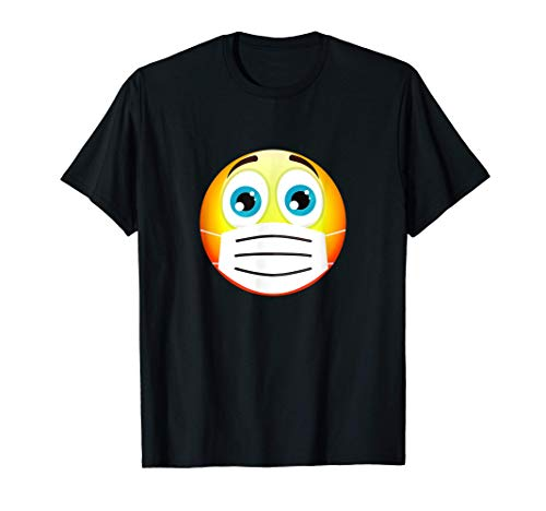 Face Medical Mask Emojis Wear Emoticon Halloween Costume T-Shirt