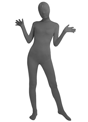 Frauen-Fit Ganzanzug Spandex One Piece Ganzkörper Zentai Kostüm Lycra Bodysuit (L, deep gray)