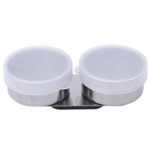 Tazza a doppia bocca grande Tazza in acciaio inossidabile Tazza da tavolozza Contenitore per olio Vernice Contenitore per solvente di trementina con tappo a vite