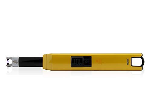TESLA Lighter TESLA Lighter T07 Lichtbogen-Feuerzeug, elektronisches USB Stabfeuerzeug, Single-Arc Lighter, wiederaufladbar Matt-Silber Matt-silber