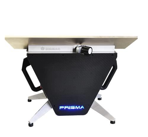 Mini biseladora metacrilato PRISMA - Pulidora de cantos portátil exclusiva de BERMAQ - Única en el mundo.