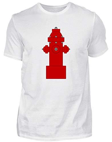 Grifo de Bomberos, Bomberos, Agua, chorros de Agua, Trabajo, Trabajo, Trabajo de ensueño, Camiseta para Hombre Blanco L