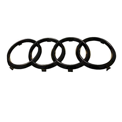 Emblema originale Audi 'Anelli' nero lucido.