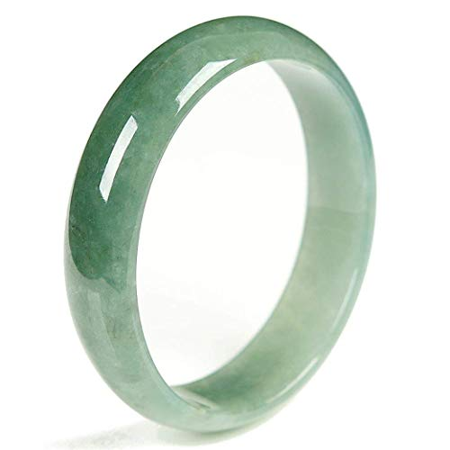 Jadeite Jade Bangle Bracelet - 57mm (Grade-A Jade) Green