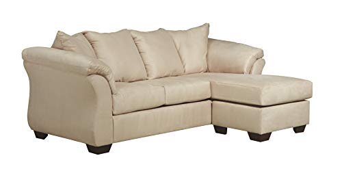 Signature Design by Ashley -  Darcy Microfiber Sofa with Chaise, Stone
