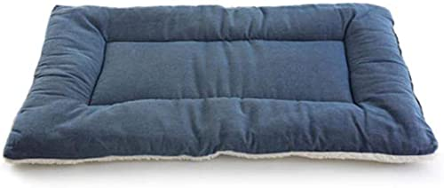 Kohza Alfombrilla para perros, impermeable, lavable, apta para el coche para perros y gatos pequeños y medianos (S 60 x 50 cm, azul)