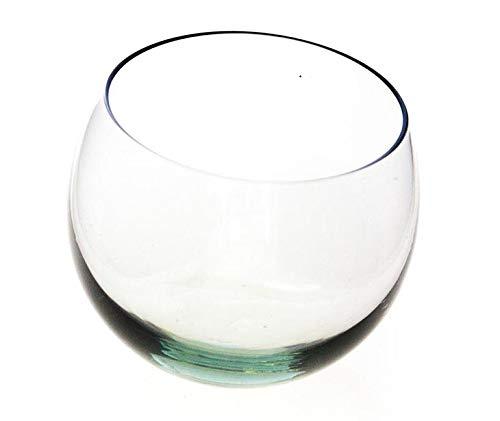 ngwenya Glass Whisky di vetro, vetro di whisky, commercio equo e solidale, in vetro riciclato, Set di 2con scatola di legno