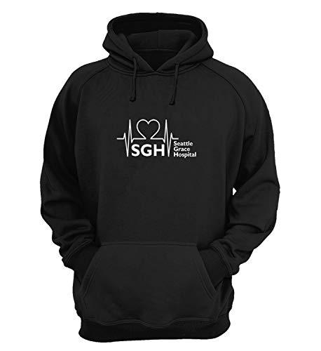 Generic Greys Anatomy Seattle Grace Hospital Logo_KK015536 Hoodies Felpe con Cappuccio Sweatshirt...