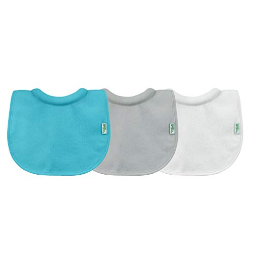 green sprouts Stay-dry Milk Catcher Bibs (3 Pack) | Collar absorbs milk to prevent rashes | Waterproof inner layer, Absorbent terry cotton, Machine washable