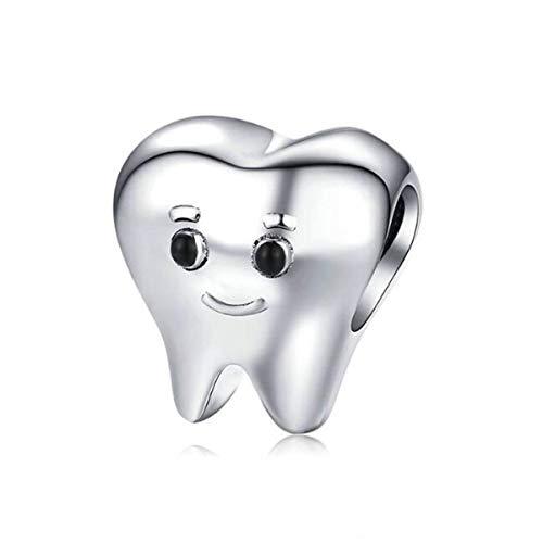 Cuenta de dentista de hada sonriente para Pandora para mujer joyería para regalos de adolescentes o niños espaciador