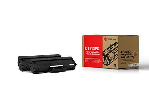 Tomatoner - Pack de 2 Toners - Compatible para Samsung D111S - Cartucho De Tóner Negro Compatible para Samsung Xpress M2022/M2022W/M2070/M2070W/M2070F/M2070FW/M2026/M2026W/SL-M2020/M2020W