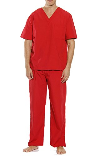 Tropi 33000M-Red-XXXL Unisex Scrub Sets/Medical Scrubs/Nursing Scrubs