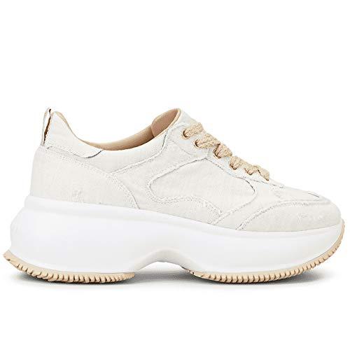 Hogan Sneakers Donna Maxi I Active Avorio in Tessuto - HXW4350BP20 MVJB019 - Taglia 37½