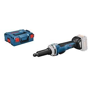 Bosch Professional GGS 18V-23 PLC Amoladora recta, 23000 rpm, conectable, pinza diámetro máximo 8 mm, hombre muerto, sin batería, en L-BOXX, 18 V, azul, Size