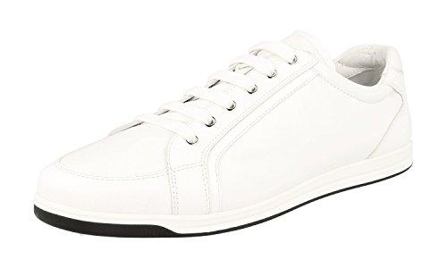 Prada Damen Weiss Saffiano Leder Sneaker 3E5892 39 EU