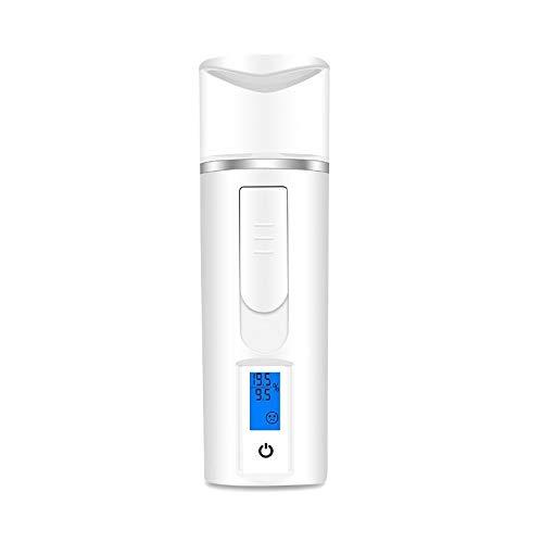 CattleBie Tragbare Mini-Nano Nebel-Sprüher USB Gesichtskörper-Vernebler-Dampfer Moisturizing Hautpflege handliches Spray Hautfeuchtigkeit-Test (Color : Weiß)