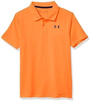 Under Armour Boys  Performance 2.0 Golf Polo  Orange Spark  841 /Academy Blue  Youth Large