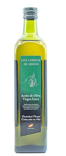 Los Cerros de Ubeda - Natives Olivenöl extra, 750ml, Glasflasche, kaltgepresst, hergestellt in Andalusien, Spanien