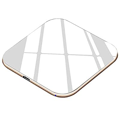 Wireless Charger [USB C, Ultra Slim] 7.5W Qi Charger Compatible iPhone 11/11 Pro/11 Pro Max/XS/XR/XS Max/X/8 Plus/8, 10W Fast Charging Galaxy S10 S9 S8, Note 10, Note 9, Note 8 - No AC Adapter
