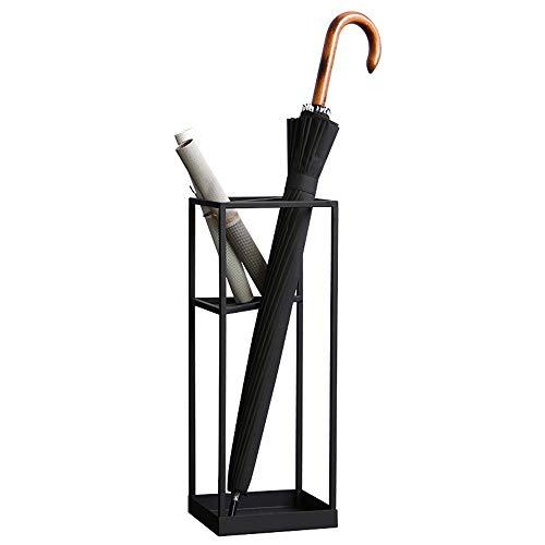 ZXQZ Portaombrelli Design Moderno, Portaombrelli - Portaombrelli Multifunzione in Ferro battuto - Portaombrelli in Legno per Hotel portaombrelli da Esterno