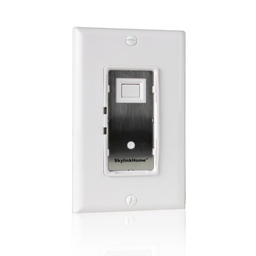 SkylinkHome WE-001 In-Wall On / Off Wall Switch Lighting Control Home Automation Smart Light Remote Controllable Light Receiver, SkylinkNet Compatible Easy DIY Installation without neutral wire,Off White