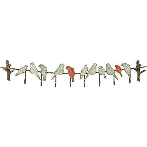 Kare Bird Party wandkapstok in absolute vintage-stijl, metaal, bruin, (H/B/D) 19 x 102 x 6 cm
