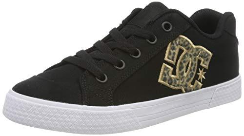 DC Shoes (DCSHI) Chelsea TX Se-Low-Top Shoes for Women, Zapatillas para Mujer, Leopard Print, 36 EU
