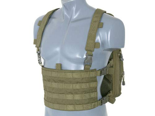 8FIELDS Backpack with Combo MOLLE Front Panel Rig Vest Kombi Airsoft Outdoor Paintball