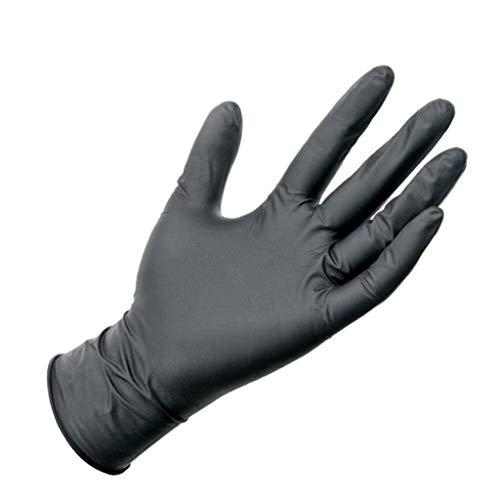 XL,100 Pcs Industrial Black Exam Glov-ES -5 mil, Latex Free, Powder Free, Textured, Disposable, XXLarge, Box of 100 Pcs, Comfortable