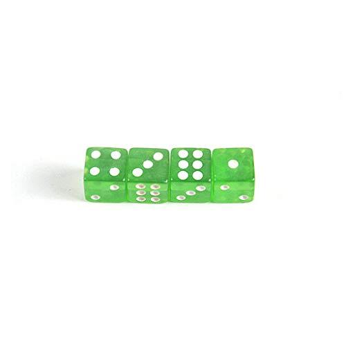 GOZAR 4Pcs Dados Forma Diseño Coche Neumático Caps Válvula Tallo Polvo Cubre Universal Plástico Neumático Válvula Polvo Caps Automático Decorativo Accesorios-Verde