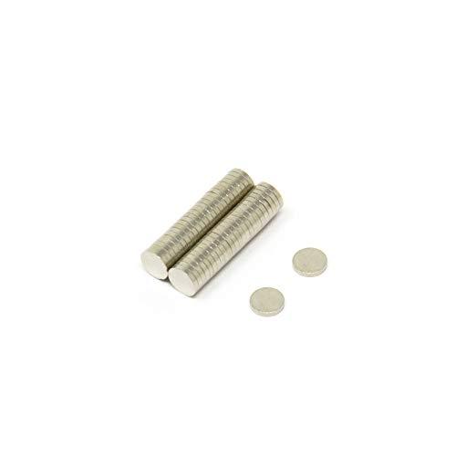 Magnet Expert - Imanes circulares para manualidades (neodimio resistente grado N42, 3 x 0,5 mm, 0,09 kg, 50 unidades)