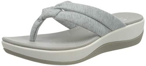 Clarks Arla Kaylie, Chanclas Mujer, Grey Textile, 36 EU