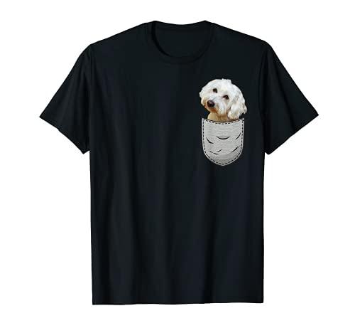 Malteser Maltese Brust-Tasche Pocket Hundebesitzer T-Shirt