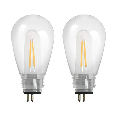 SUNTHIN Dimmable 2W LED Light Bulbs, Warm White 3000K Shatterproof LED Vintage Filament Bulb, Replacement Bulbs for SUNTHIN 2W LED Outdoor String Lights