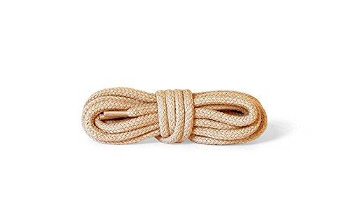 Kaps Round Thick Laces, 5-6mm de diamètre, lacets de chaussures durables 100% coton pour chaussures de sport, fabriqués en Europe, 1 paire (120 cm - 47 inch - 6 à 8 paires d'oeillets/ 10 - beige)