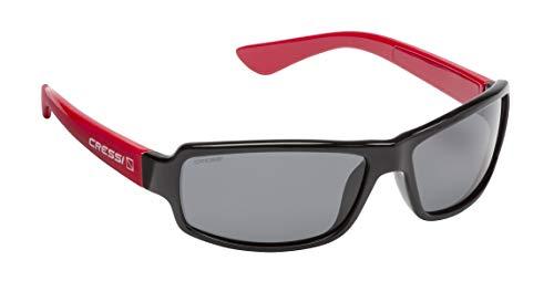 Cressi Ninja Sunglasses Gafas Polarizadas para Deportes con una Protección 100% UV, Adultos Unisex, Azul Royal-Lentes Espejadas Naranja, Un Tamaño