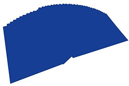 folia 6436 - Tonpapier ultramarin, DIN A4, 130 g/qm, 100 Blatt - zum Basteln und kreativen Gestalten von Karten, Fensterbildern und für Scrapbooking