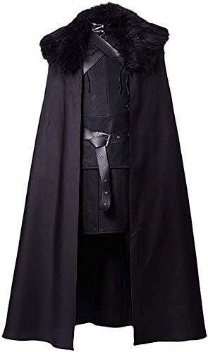 GoT Costume Juego de Tronos Cosplay Jon Snow Night Reloj para hombre, talla EU